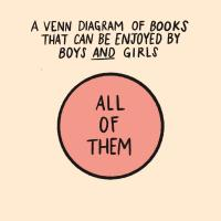 A Venn Diagram of books that can be enjoyed by boys and girls--it includes all of them.