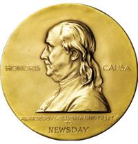 Pulitzer Prize medallion