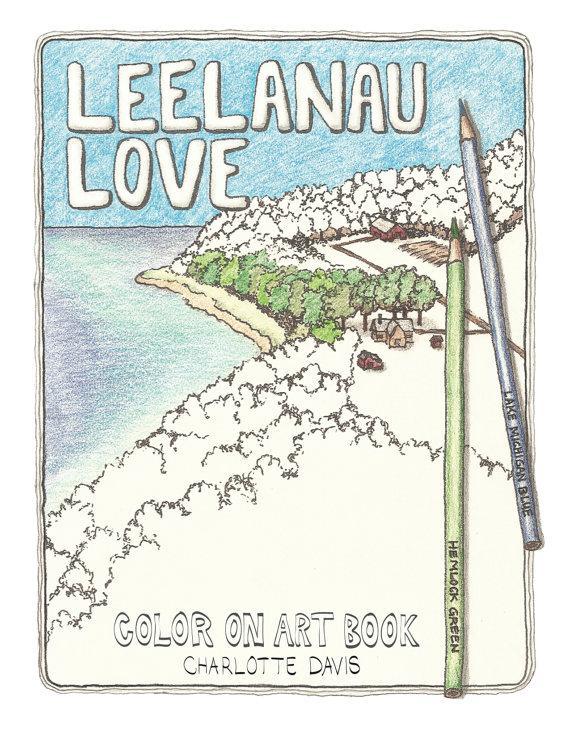 Leelanau Love Color On Art Book