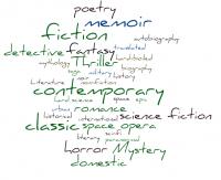genre word cloud